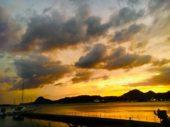 柿崎の夕景